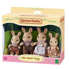 Sylvanian Families Milk Rabbit Family