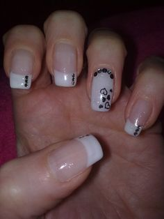 I did my nails like this but I put a white tip on - http://yournailart.com/i-did-my-nails-like-this-but-i-put-a-white-tip-on/ - #nails #nail_art #nails_design #nail_ ideas #nail_polish #ideas #beauty #cute #love