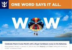Did you know January is Miami Cruise Month? To celebrate, Royal Caribbean is including discounts on cruises, $25 in onboard credit for Interior/Ocean View Staterooms and $50 for Suites when you book by January 31 with Cruise Voyant.