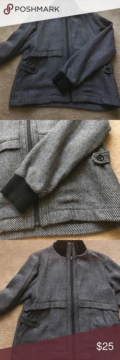Men's fall herringbone jacket Never worn men's fall jacket - soft wool with great pocket detail - can be worn to work with trousers or casual- pretty warm will carry him into the colder weather NSF Jackets & Coats Pea Coats