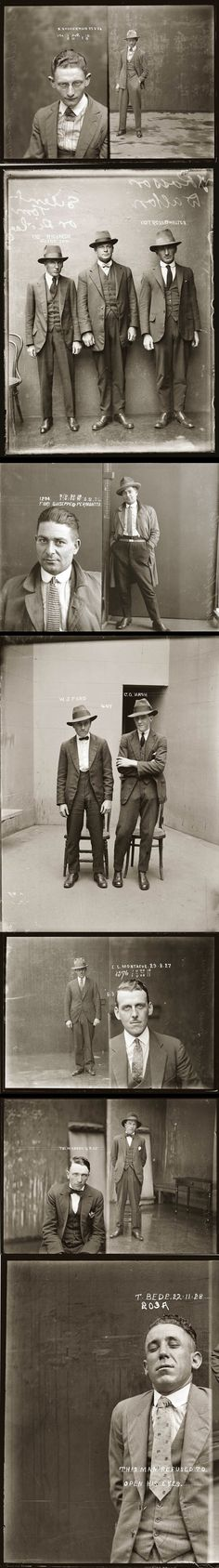 Vintage Mugshots from the 1920s. Australia.