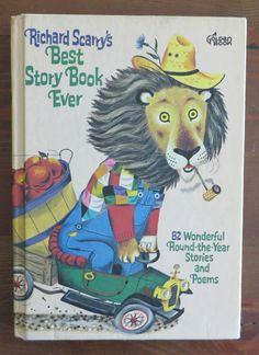 Richard Scarry's Scarry BEST STORY BOOK EVER 1967 Vintage 82 Stories