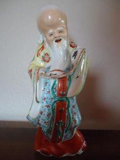 "Porcelain Japanese Wiseman  8 1/2"" Marked"