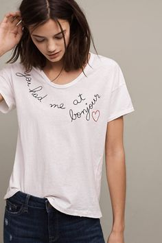 6095eab2ee9 You Had Me At Bonjour Tee - Putting a chic French twist on West-Coast