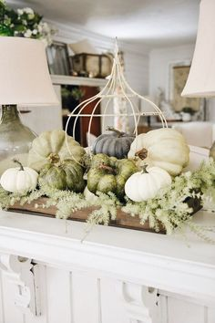 Inspirational Cozy Farmhouse Fall Decor - Home Decoration Rustic Fall Decor, Fall Home Decor, Autumn Home, Decoration Christmas, Thanksgiving Decorations, Seasonal Decor, Thanksgiving Table, Decoration Bedroom, Decoration Table