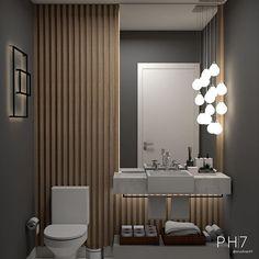 Bathroom Design Inspiration, Bad Inspiration, Modern Bathroom Design, Bathroom Interior Design, Small Toilet Room, Guest Toilet, Ideas Baños, Light Grey Kitchens, Powder Room Design