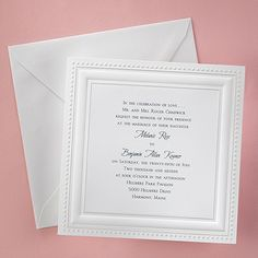 Bright White Squares - Invitation weddingneeds.carlsoncraft.com