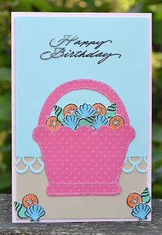 DeNami Birthday Seashell Basket card by @Stacy