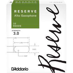 D'Addario Woodwinds Reserve Alto Saxophone Reeds 10 Pack Strength 3