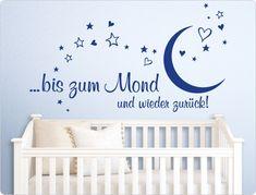 Nice Wandtattoo Kinderzimmer bis zum Mond und wieder zur ck