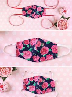Learn how to make a DIY mask (fabric face mask) in 2 styles Sewing Patterns Free, Free Sewing, Free Pattern, Pattern Sewing, Diy Face Mask, Face Masks, Mask Design, Digital Pattern, Pattern Paper