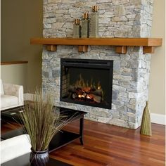 New Photo Electric Fireplace tile Strategies Dimplex Multi-Fire XD Wall Mounted Electric Fireplace Insert Insert Style: Fireplace Tv Wall, Country Fireplace, Build A Fireplace, Farmhouse Fireplace, Fireplace Remodel, Fireplace Design, Fireplace Ideas, Brass Fireplace Makeover, Airstone Fireplace