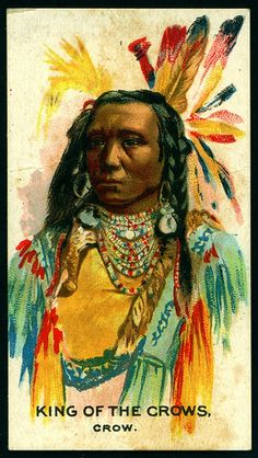 Cigarette Card - Indian Chief, King of the Crows