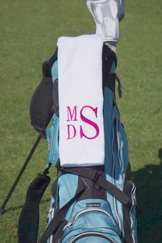 Monogrammed Golf Towels, Sport Towels, Golf Accessories, Personalized Embroidered Golf Towels - FIND MORE HOME & BRIDAL LINENS AT DonovanDesignLinens.com