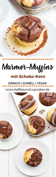 Marmor-Muffins mit Schoko-Kern – Kaffee & Cupcakes