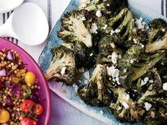 Grilled Broccoli with Chipotle-Lime Butter and Queso Fresco | On the grill, broccoli becomes tender and deliciously charred. Tossing it with a butter flavored with lime zest, honey and smoky chipotle Tabasco makes it luscious.
