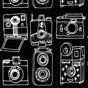 Colorful fabrics digitally printed by Spoonflower - Vintage Cameras // black and white hand-drawn vintage camera illustration Camera Supplies, Art Supplies, Camera Illustration, Art Supply Stores, Vintage Cameras, Black Wallpaper, Camera Accessories, Custom Fabric
