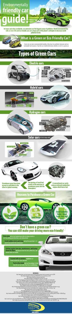 infographic, green cars, green transportation, hydrogen vehicles, hybrid vehicles, electric vehicles, greenhouse gas emissions, car pollutio...