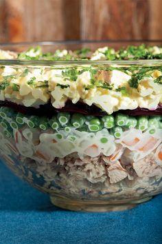 Seven-Layer Russian Salad Recipe