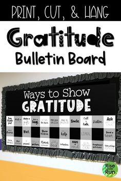 Thanksgiving Bulletin Board with Ways to Show Gratitude This Thanksgiving Bulletin Board looks awesome! It encourages students to show gratitude in lots of different ways. Easy to print, cut, and hang. in any colors to match the school. Leadership Bulletin Boards, Counselor Bulletin Boards, Inspirational Bulletin Boards, Health Bulletin Boards, Creative Bulletin Boards, College Bulletin Boards, Kindergarten Bulletin Boards, Reading Bulletin Boards, Winter Bulletin Boards