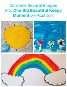 "Can't decide which of your kids awesome art to Keepy? UPLOAD IT ALL!   1. Create an art collage using your preferred app (we like Pic Stitch)   2. Save it to your camera roll   3. Open your Keepy app, tap ""+"", and select the collage :)   #kidsart #photos #apps"