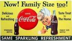 1955 Coca Cola Kid Advertising Figure Vintage Poster Sign