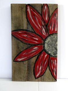 Pallet, Pallet Sign, Pallet Art, Pallet Daisy Sign on Etsy, $40.00
