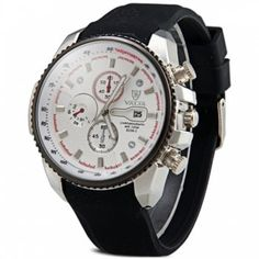 SHARE & Get it FREE | Valia 8258-2 Male Quartz Watch Day Decorative Non-functioning Sub-dials Rubber WatchbandFor Fashion Lovers only:80,000+ Items·FREE SHIPPING Join Dresslily: Get YOUR $50 NOW!