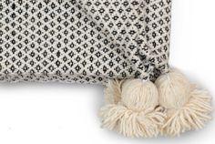 Moroccan Pom Pom Blanket Throw Berber Blanket Wool Blanket