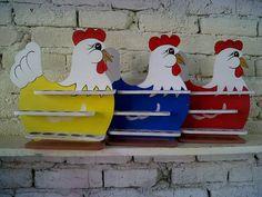 artesanía en mdf gallinas porta huevos
