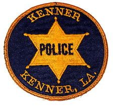 KENNER LOUISIANA Police Patch VINTAGE ~