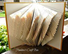 La página de libro de arte de plegado, la página del libro plegado tutorial, página del libro plegado, plegado de las páginas del libro, el libro de plegado, bricolaje,
