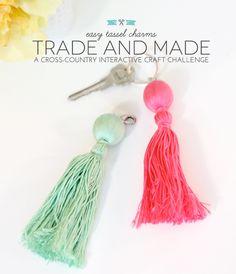 Trade & Made Blogger Challenge: Easy Tassel Charms | Damask Love Blog