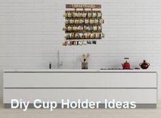 Diy Cup Holder Ideas Kitchen #diycupholderkitchen Coffee Cup Rack, Coffee Mug Holder, Coffee Cups, Disney Coffee Mugs, Diy Cupboards, Coffee Bar Home, Mug Rack, Diy Mugs, Ceramic Cups