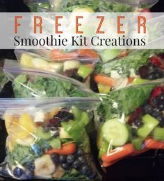 How To Make Your Own Freezer Smoothie Kit Creations | http://homestead-and-survival.com/make-freezer-smoothie-kit-creations/