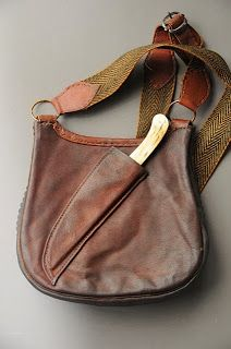Now THAT'S a Man Purse! Haversack with knife sheath on the back by Contemporary Makers -