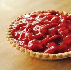Easy strawberry pie with cream cheese filling- my new favorite way to use strawberries!