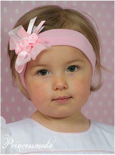 (EM-38) Babystirnband! Traumhaft schön! - Princessmoda - Alles für Taufe Kommunion und festliche Anlässe