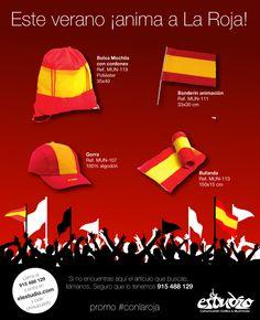 Promoción merchandising el estudio con la roja