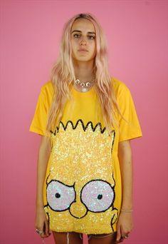 Bart Simpson Sequin Tee