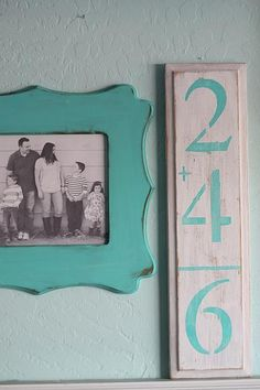 DecoArt Blog - Project - Family Addition Sign #stencils #decoartprojects