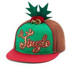 ce32d2bbeab Womens Christmas Holiday Jingle Mistletoe Baseball Cap Hat