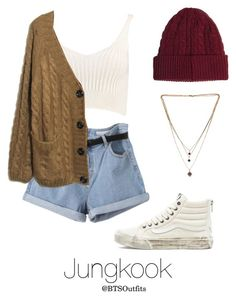 """""""Late Night Walk on the Beach with Jungkook"""" by btsoutfits ❤ liked on Polyvore featuring Vans, Boohoo, French Connection and Bex Rox"""