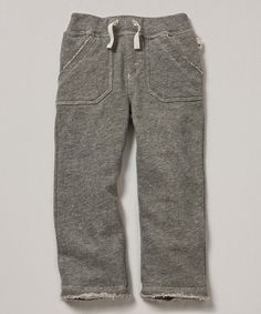 Loving this Gray Terry Organic Sweatpants - Infant & Toddler on #zulily! #zulilyfinds