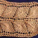 learn knitting Leaves stripe