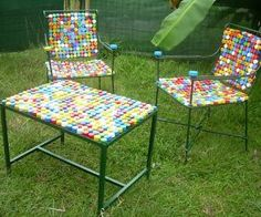 furniture made with caps
