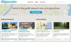 I recently learned about Citizinvestor, a site that attempts to bring crowdfunding to city projects in the United States. Unlike most crowdfunding sites, not just anyone can join: they have to be city officials, and the project has to be approved for moving forward. Citizinvestor steps in with the funding side—city officials can go directly to their constituencies to seek funding. The city gets the funds it needs, and citizens know exactly how their dollars are being spent.