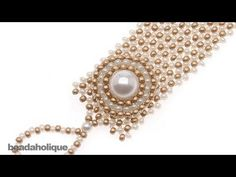 How to do Circular Brick Stitch Bead Weaving around a Bead - YouTube