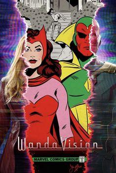 Marvel Fan, Marvel Avengers, Marvel Universe, Arte Monster High, Wanda Marvel, Scarlet Witch Marvel, Comic Poster, Poster Marvel, Marvel Photo