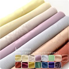 [women-obi-age] Special Pure Silk Obiage(Outer Sash Adjuting Cushion Fixing Belt)/15 Plain Colred Type/Canft choose the details of the pattern.Matches the color of another Obijime(Outer Sash Belt) items. [Designed in Japan]